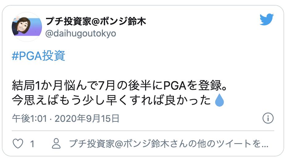 投資 デメリット Pga